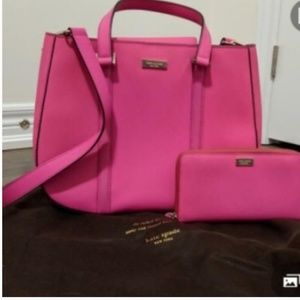 Kate spade pink purse new without tags